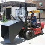 3 toneladas Cubeta de montacargas de horquilla Hyundai Diesel Tenedor bisagra e cubo